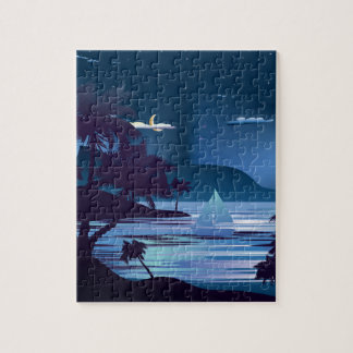 Tropical Island at Night2 Puzzle