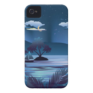 Tropical Island at Night Case-Mate iPhone 4 Case