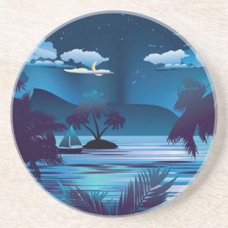 Tropical Island at Night Coaster