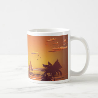 Tropical Island at Sunset 2 Coffee Mug