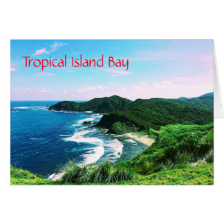 Tropical Island Bay Card