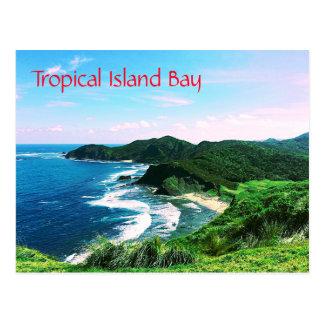 Tropical Island Bay Postcard