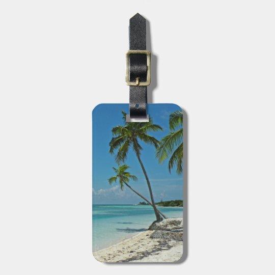 Tropical Island Beach Luggage Tag