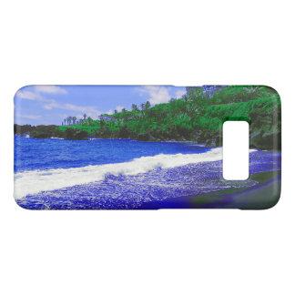 Tropical Island Black Sandy Beach Case-Mate Samsung Galaxy S8 Case