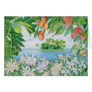 Tropical Island Card