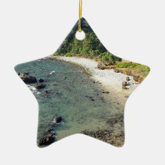 tropical island ceramic star ornament