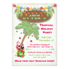 Tropical Island Christmas Holiday Party Invitation