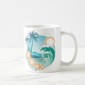 Tropical Island Classic White Coffee Mug