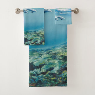 Tropical Island Fantasy Bathroom Towel Set