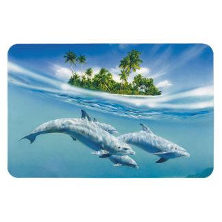 Tropical Island Fantasy Flexi Magnet