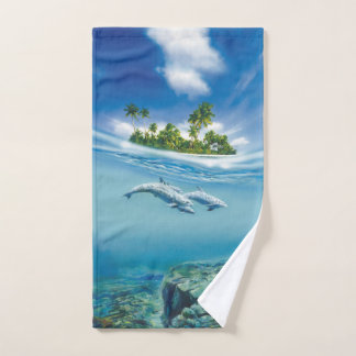 Tropical Island Fantasy Hand Towel