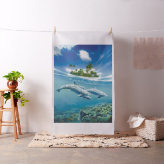 Tropical Island Fantasy Tapestry Fabric