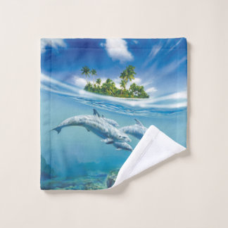 Tropical Island Fantasy Wash Cloth