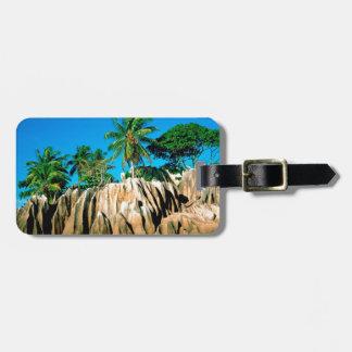 Tropical Island Found Seychelles Bag Tag