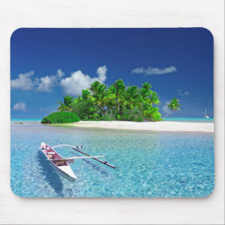 Tropical Island Getaway Mouse Pad