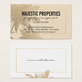 Tropical Island / Golden Lux Frame Business Card