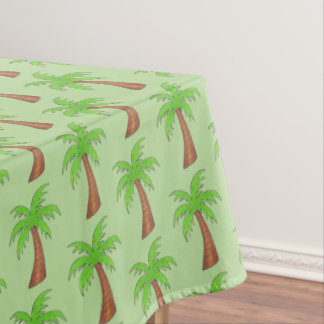 Tropical Island Green Palm Tree Palmtree Print Tablecloth