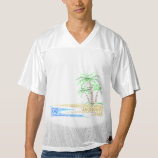 Tropical Island illustrated with cities of Florida Men's Football Jersey