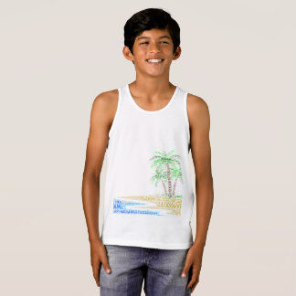 Tropical Island illustrated with cities of Florida Tank Top