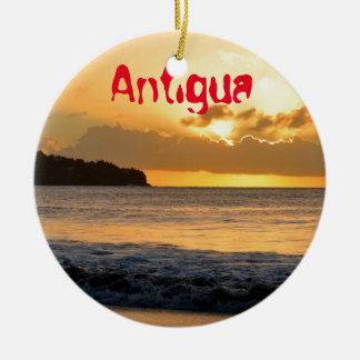 Tropical island in Antigua Ceramic Ornament