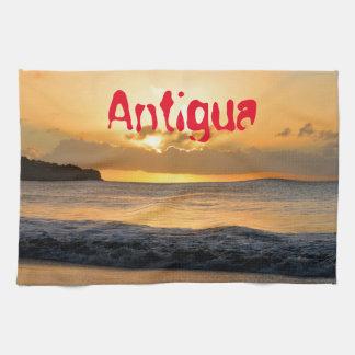 Tropical island in Antigua Kitchen Towel