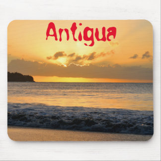 Tropical island in Antigua Mouse Pad