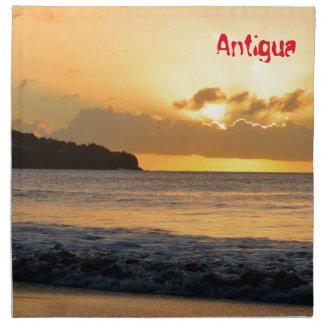 Tropical island in Antigua Printed Napkins