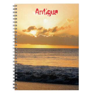 Tropical island in Antigua Spiral Notebooks
