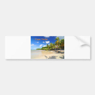 Tropical island in Cape Verde Bumper Sticker