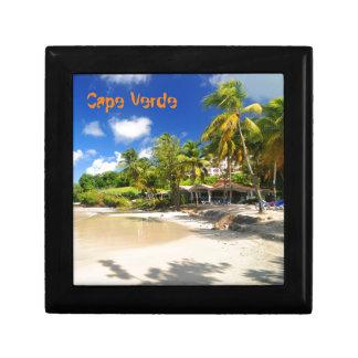 Tropical island in Cape Verde Jewelry Box