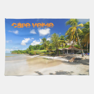 Tropical island in Cape Verde Kitchen Towel