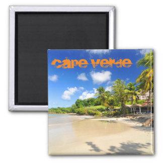 Tropical island in Cape Verde Square Magnet