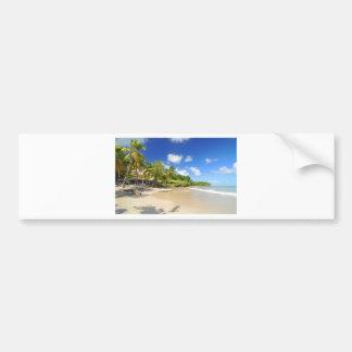 Tropical island in Cayman Islands Bumper Sticker