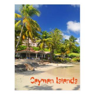 Tropical island in Cayman Islands Postcard