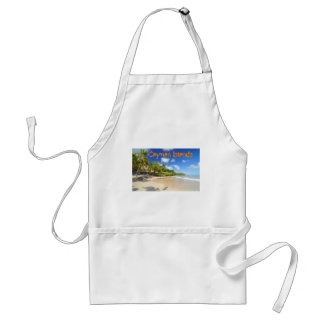 Tropical island in Cayman Islands Standard Apron