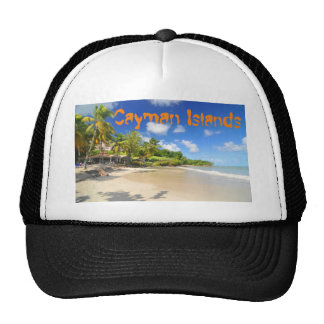 Tropical island in Cayman Islands Trucker Hat