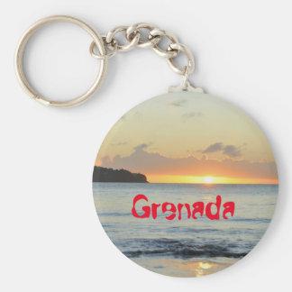 Tropical island in Grenada Keychain