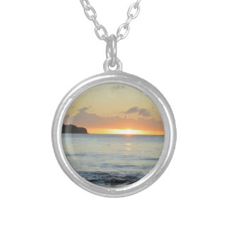 Tropical island in Grenada Silver Plated Necklace