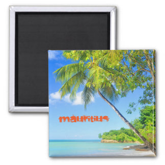 Tropical island in Mauritius Magnet