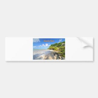 Tropical island in Puerto Rico Bumper Sticker