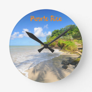 Tropical island in Puerto Rico Wall Clocks