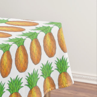 Tropical Island Luau Hawaiian Pineapple Fruit Tablecloth