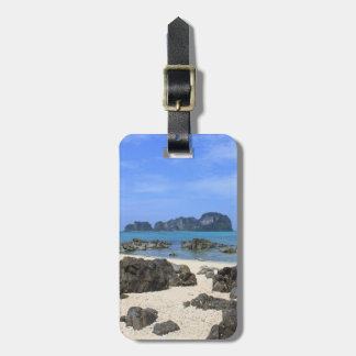 Tropical island luggage tag