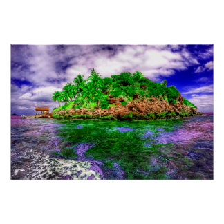 Tropical Island Oasis Poster