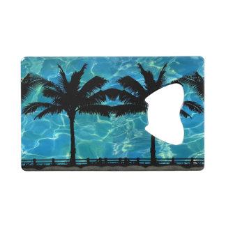 Tropical Island Palm Tree Bottle Opener Credit Card Bottle Opener