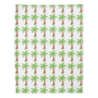 Tropical Island Palm Tree Coconut Print Bedding Duvet Cover
