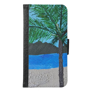 Tropical Island, Palm Tree Samsung Galaxy S6 Wallet Case