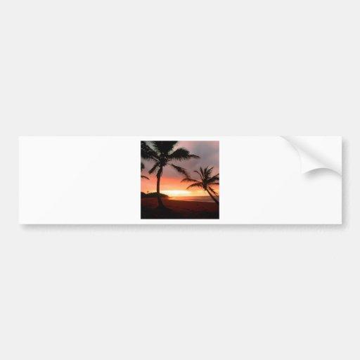 Tropical Island Palms Dominican Republic Bumper Sticker
