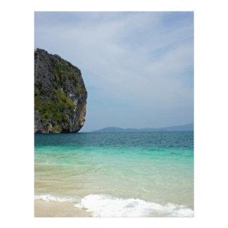 tropical island personalized letterhead