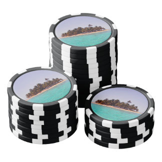 Tropical Island Poker Chips